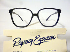 Regency By Tart Optical Vintage Ladies Eyeglass Frame HMT7554 Navy 57-15 - NOS
