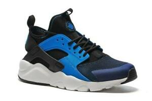 reputable site 0fde5 49bad Image is loading Mens-NIKE-AIR-HUARACHE-RUN-ULTRA-Blue-Black-