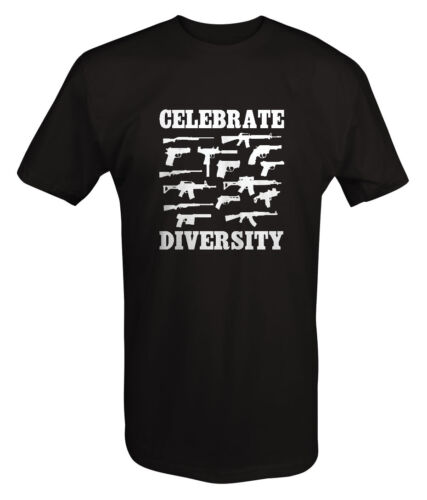 Celebrate Diversity Gun Rifle Pistol Shotgun T shirt