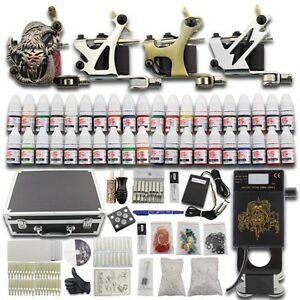 Complete-Starter-Tattoo-Kit-4-Machine-40-Ink-SuitCase-Needle-Power-Supply-Set-03