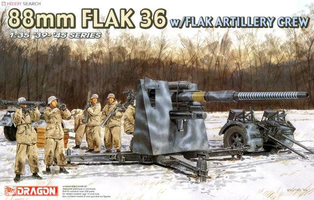 Dragon 6260 1 35FULL VER w Metal Barrel 88mm FLAK 36 w FLAK CREW