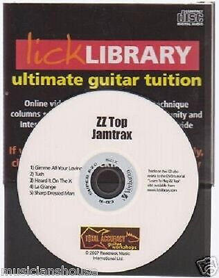 Learn To Play ZZ TOP Vol.2 Lick Library Guitar JAMTRAX CD with JAM TRAX LESSON