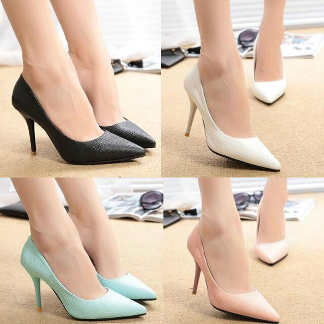 Sexy Pointy Toe Women Lady Stiletto High Heels Pumps Cocktail Evening Prom Shoes