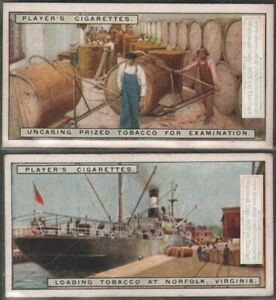Inspecting-Tobacco-and-Preparing-Cargo-Sea-Shipping-TWO-90-Y-O-Trade-Ad-Cards