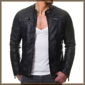 ab21a678a New Mens Genuine Lambskin Real Leather Jacket Slim fit Biker ...