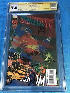 Wolverine-91-Marvel-CGC-SS-9-6-NM-Signed-by-Adam-Kubert-Larry-Hama