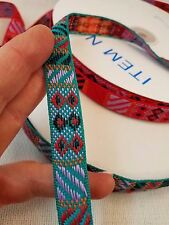 """Ladybug Small Woven Fabric Trim 5//8/"""" wide Sold by 1 or 10 yards"""