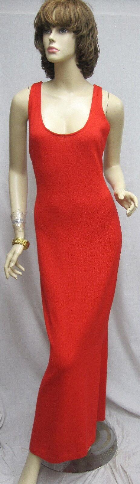 St. John Knit EVENING NWOT Red SEXY DRESS SZ 6
