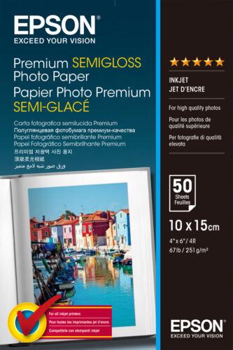 50 sheets Epson Premium 4x6 Semi-gloss Photo Paper
