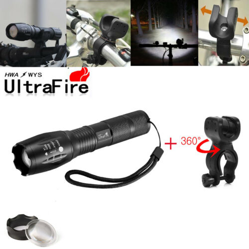 60000LM LED T6 UltraFire Zoom LED Flashlight Torch/&18650 Battery+Charger Clip