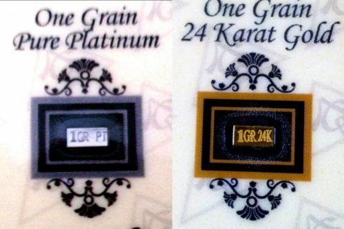 2 BARS ACB Gold /& Platinum 1GRAIN Bullion Bars w//Certificates of Authenticitys $