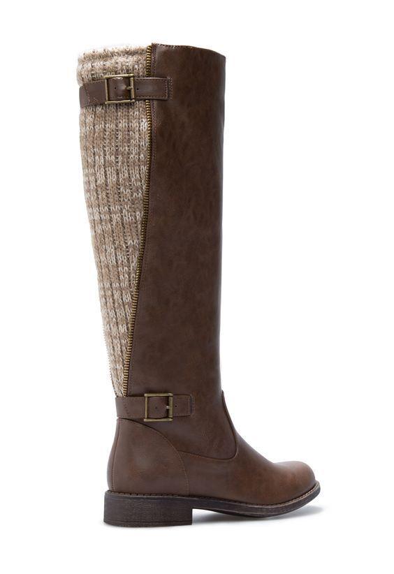 Ladies Lelah Knee High Boots Brown LN38 39