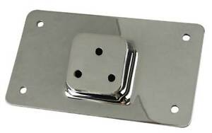 Chrome-Die-Cast-Lay-Down-License-Plate-Bracket-For-All-Harley-and-Custom-Models