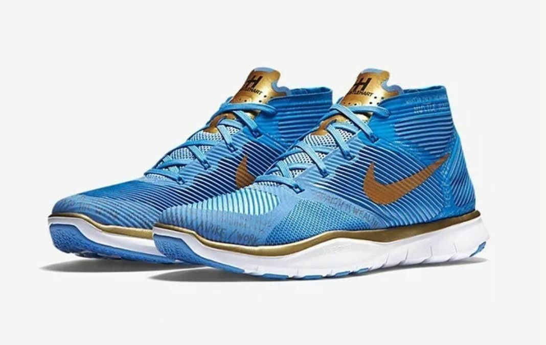 NEW NIKE 848416-474 FREE TRAIN INSTINCT HART blueeE gold MEN TRAINING SHOES SZ 14