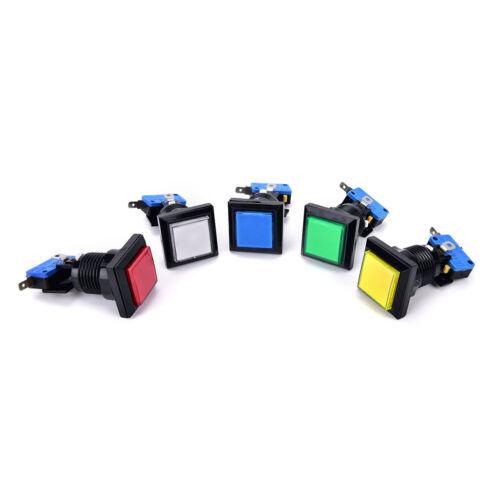 33mm square game machine push button arcade LED illuminated push button DC 12V