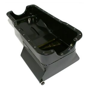 Drag-Race-Oil-Pan-Front-Sump-Black-1965-1987-Small-Block-SBF-Ford-351W-7qt