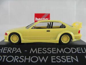 Herpa-bmw-m3-GTR-1993-034-motor-show-comida-039-94-034-en-amarillo-claro-1-87-h0-nuevo-en-el