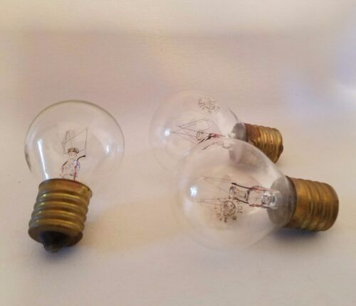 Lot of 3 General Electric GE Appliance Globe Light Bulb Lamps 10W 115-125V S11