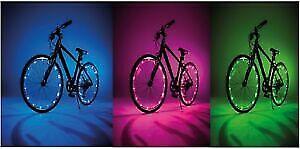 JML Wheely Bright LED Bike Wheel Spoke /& Frame Lights 2 Pack VARIOUS COLOURS
