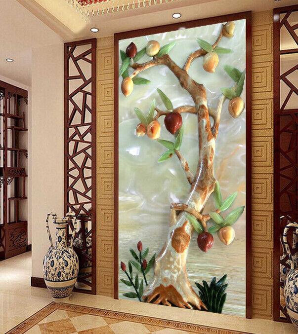 3D Mode Pfirsich Baum 811 Tapete Wandgemälde Tapete Tapeten Bild Familie DE