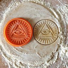 Eye of Providence cookie cutter All Seeing eye of God Symbol triangle biscuit cutters eyes mason Masonic icon Illuminati pyramid Freemason