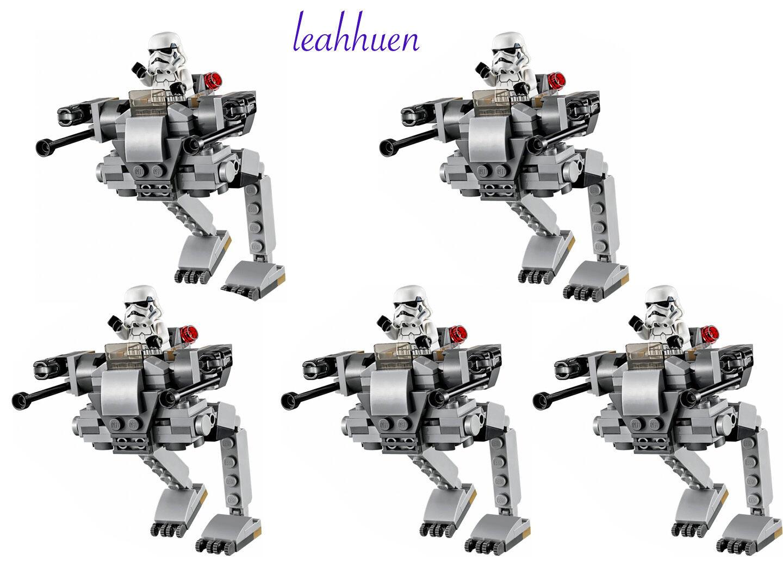Lego Star Wars 5 x Stormtrooper mini figures & Imperial walkers army 75165