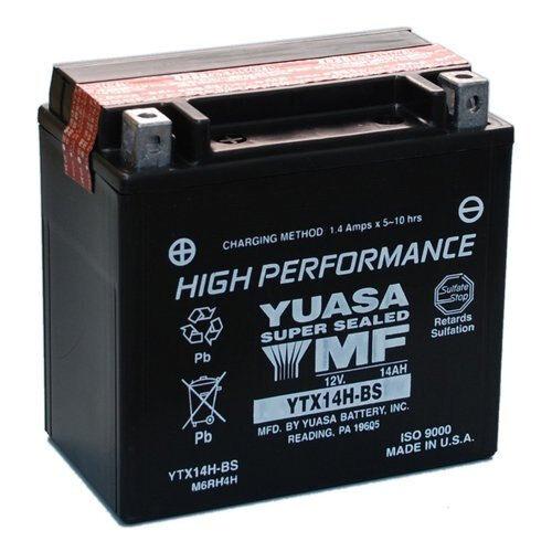 YUASA YTX14H-BS Sealed Maintenance Free Battery 12V Powersport