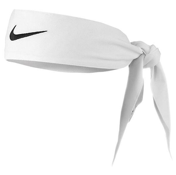 81461a9f462a Womens Nike Head Tie Dri Fit 2.0 White Headband Tennis Running for ...