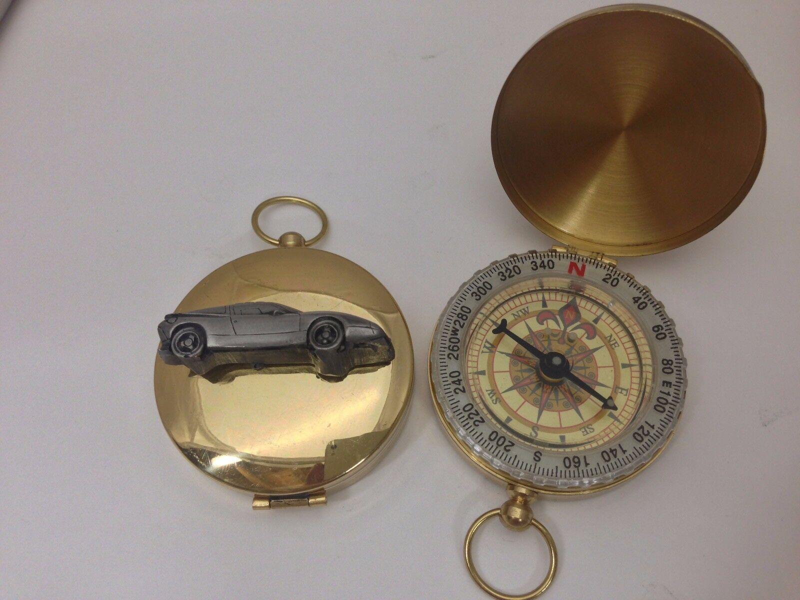 SAAB EV1 REF236 Effet Étain Emblème voiture sur compass un golden compass sur ca5cac