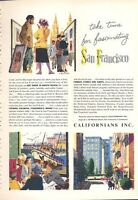 1960 Californians Inc San Francisco Wharf North Beach Shops ART PRINT AD