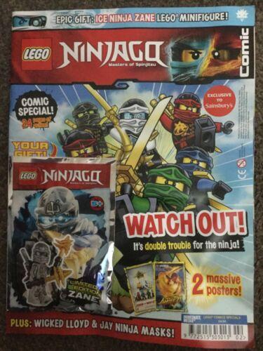 Lego 891617 Ninjago Magazine with Zane Minifigure Sainsbury/'s Exclusive