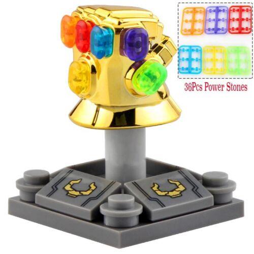 Gold Chromed With 36Pcs Power Stones Infinity Gauntlet Lego Moc Minifigures