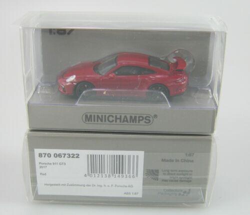 870 067322 Porsche 911 GT3 Minichamps 1:87 H0 OVP NEW Nr red #2017