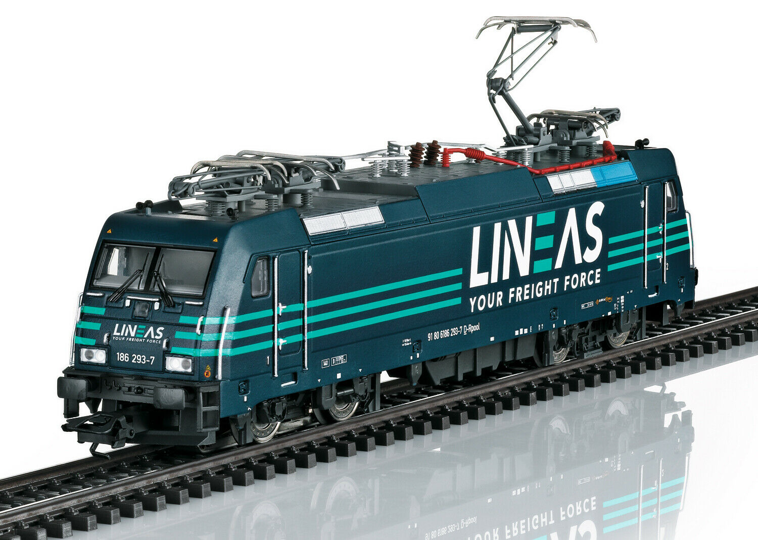 Märklin 36644 E-Lok BR 186  Lineas  MFX SOUND metallo  neu in OVP