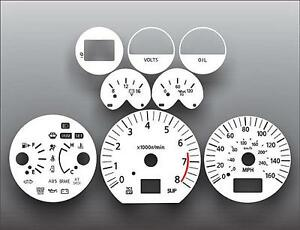 Fits-2003-2005-Nissan-350Z-Automatic-Dash-Instrument-Cluster-White-Face-Gauges