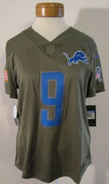 low priced d9dc3 f89c5 Womens L Nike Detroit Lions Stafford Salute to Service Football Jersey