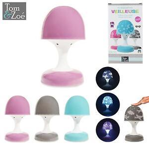 Veilleuse Tactile Lampe Enfant Champignon Led Projection Etoile