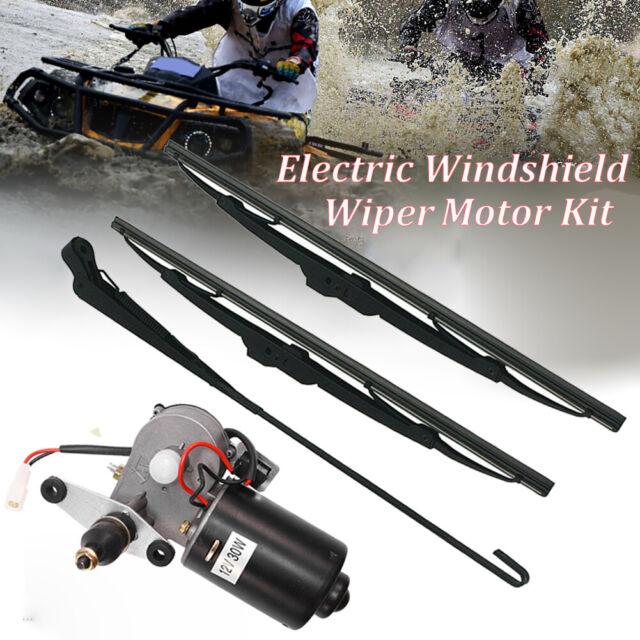 12V Electric Windshield Wiper Motor Kit for Polaris Ranger RZR 900 Can Am UTV US