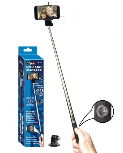 Vidpro MP-12 40 Selfie Stick Monopod with Shutter Release for iPhone 6 6s 5 5s