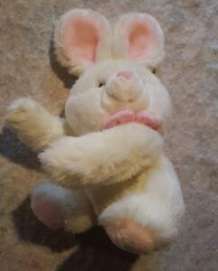 TCP Bunny Rabbit Plush Stuffed Animal Pink bow vintage