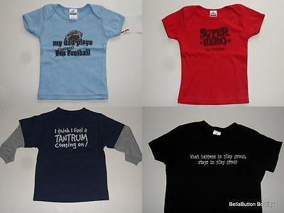 Boutique Infant//Toddler Boy Attitude T-Shirts CHOICE NEW Super Hero 6-12M