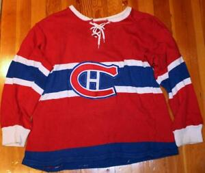 best cheap e3007 e4aa8 Details about Vintage 1960's Montreal Canadiens Adult Sized Knit Hockey  Sweater Jersey!