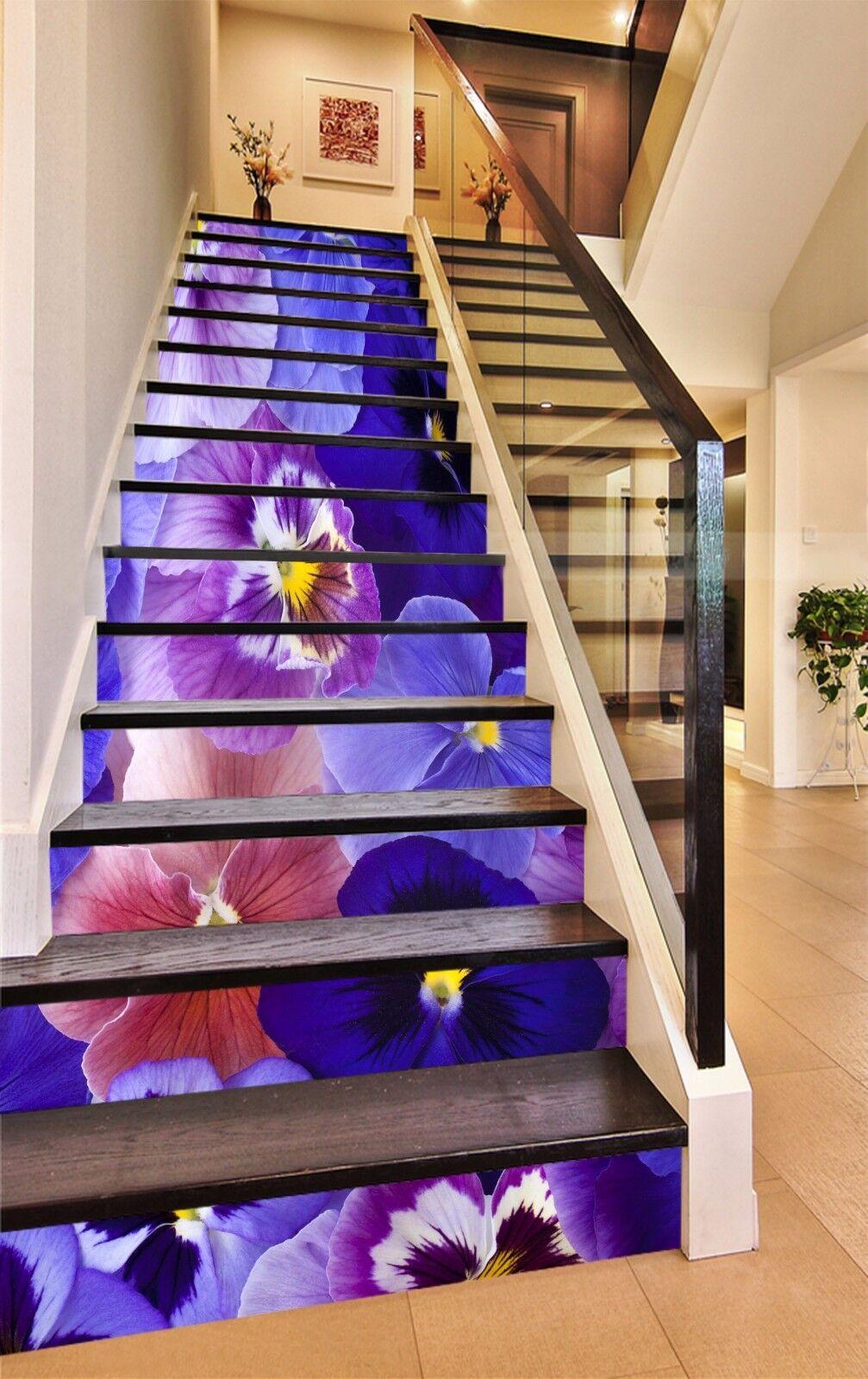 3D Phalaenopsis 20 Stairs Risers Decoration Photo Mural Vinyl Decal WandPapier US