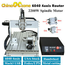 Cnc 6040 4axis 2200w Engraver Router Mach3 Usb Wood Milling Engraving Machine Us