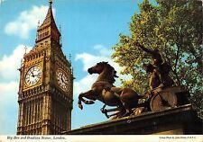 BR89765 big ben and boadicea statue london  uk