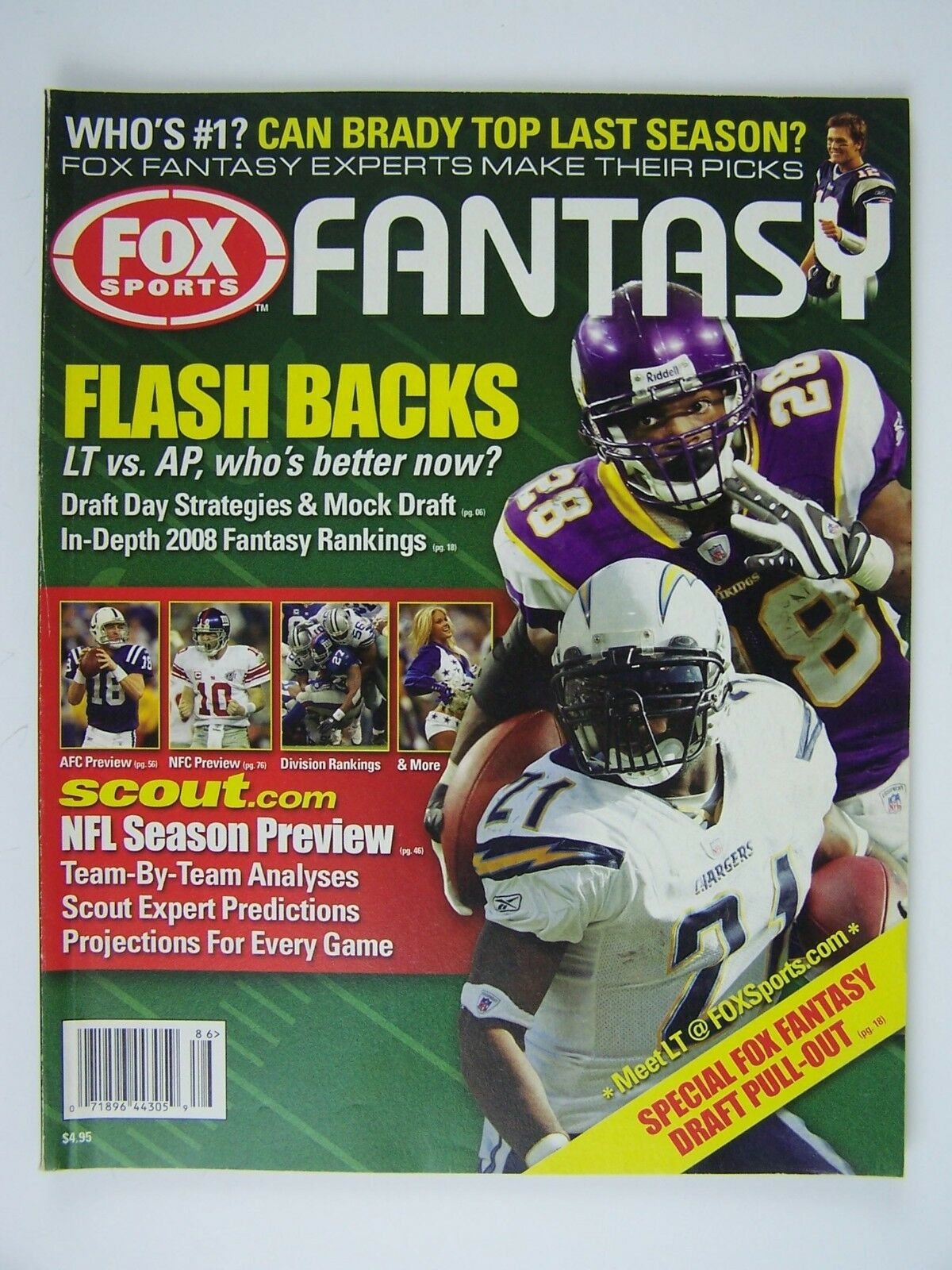 Fox Sports Fantasy Magazine Fall 2008 Adrian Peterson T