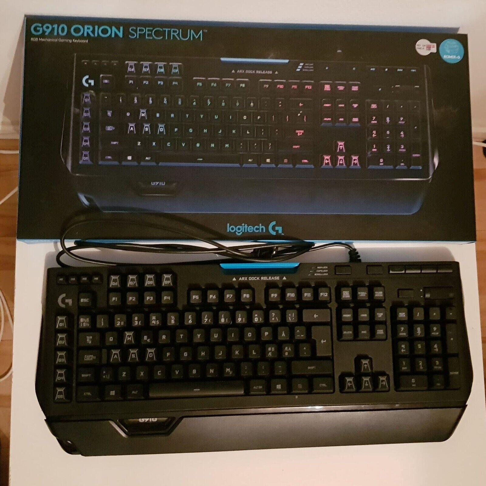 Tastatur, Logitech G910, Orion – dba.dk – Køb og Salg af Nyt
