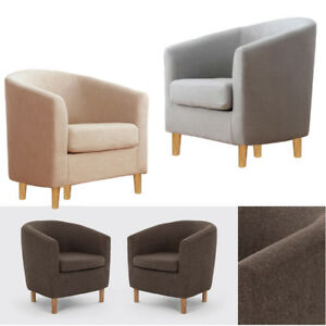 Small Linen Tub Single Sofa Chairs Footrest Bedroom Dining Room