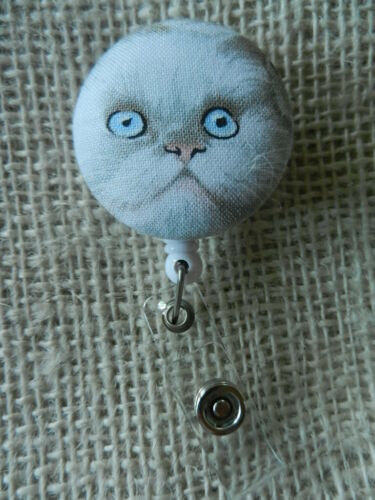 Cats Badge Reel~Unusual Eyes~Retractable ID//Name Badge Holder Reel