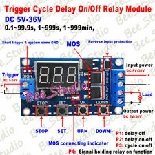 Dc 5v 12v 24v Digital Led Cycle Timer Delay Switch Turn Offon Time Relay Module
